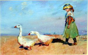 Impression - Goose Girl, James Guthrie