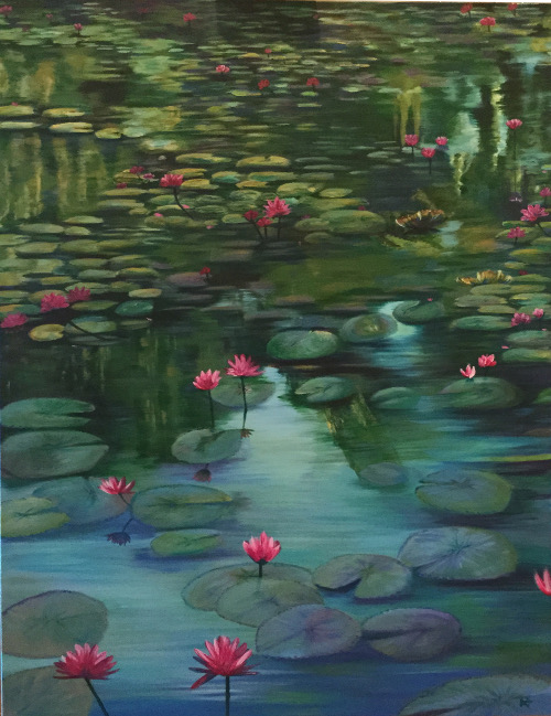 "Water lilies, ""Pink Lilies"""